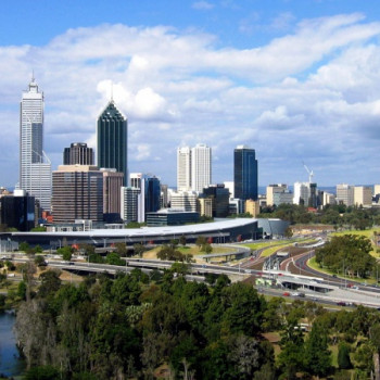 Wallpaper der Skyline von Perth