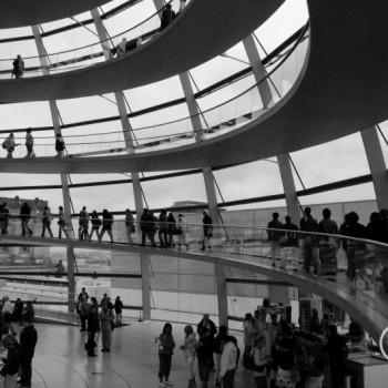 Kuppel auf dem Reichstag in Berlin