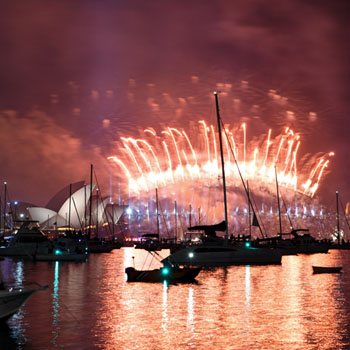 Fireworks in Sydney on New Years Eve