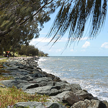 Shore path in Woody Point Moreton Bay