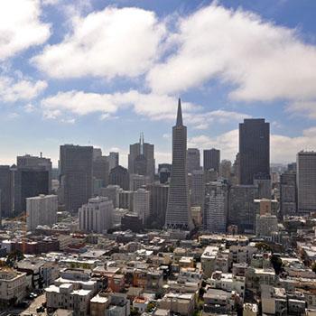 City und Crissy Fields San Francisco USA