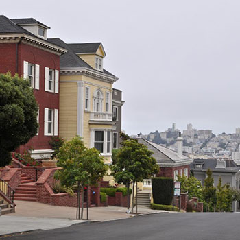 Pacific Heights und Twin Peaks San Francisco USA