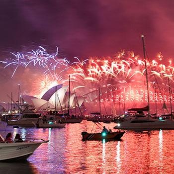 Video New Year fireworks Sydney