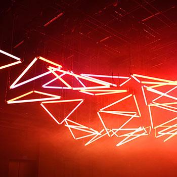 Luminale Lichtkunst im Mousonturm Frankfurt