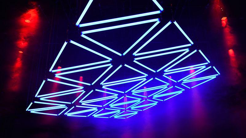 Lichtkunst im Mousonturm Frankfurt