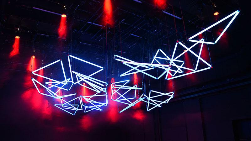 GRID Lichtkunst von Christopher Bauder and Robert Henke