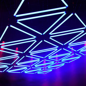 GRID Lichtshow im Mousonturm Frankfurt