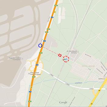 Aussichtspunkt für Planespotting am Flughafen Frankfurt