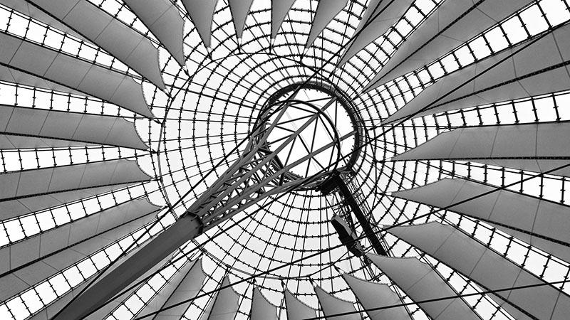 Zeltdach am Sony Center in Berlin