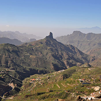 Bergwelt mit Roque Bentayga