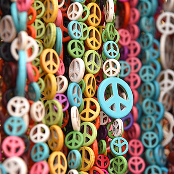 Bunte Peace-Zeichen