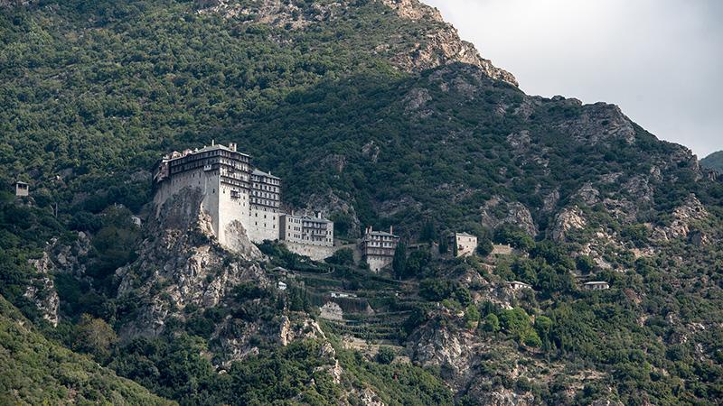Simonos Petras auf Athos Griechenland