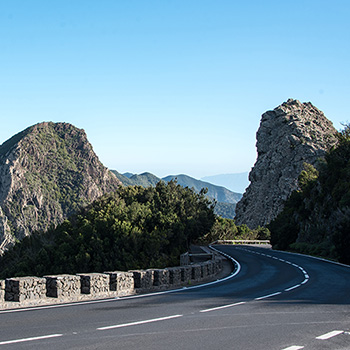 Bergstraße auf La Gomera Spanien