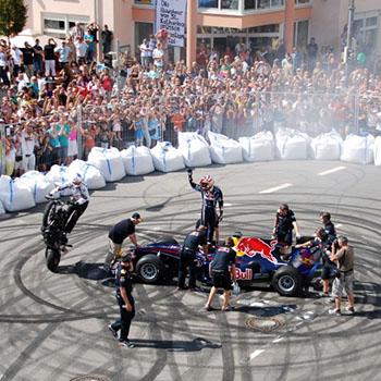 Sebastian Vettel in Heppenheim Juni 2010 - Red Bull