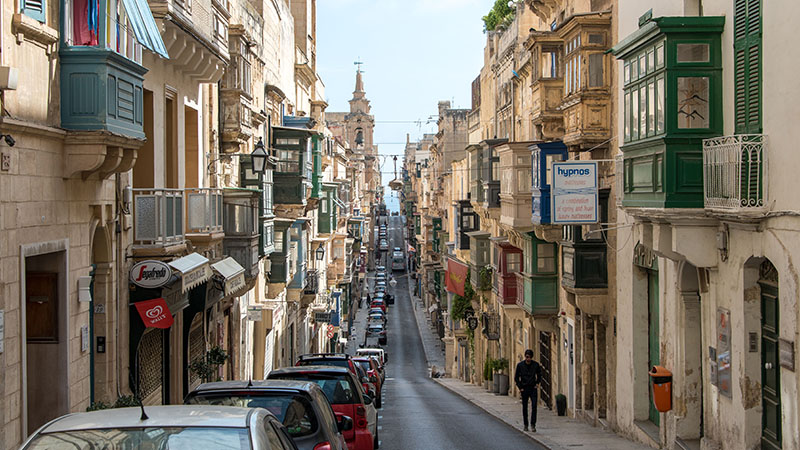 Zentrale Lage in der Altstadt von Valletta