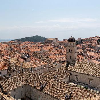 Rote Dächer der Altstadt von Dubrovnik