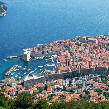 Panorama der Altstadt von Dubrovnik