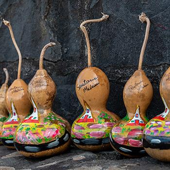 Bemalte Kürbisse auf Madeira