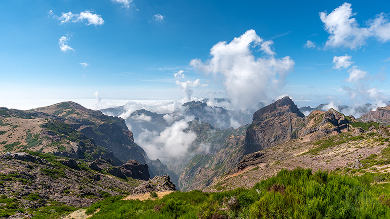 Panorama am Pico do Arieiro auf Madeira