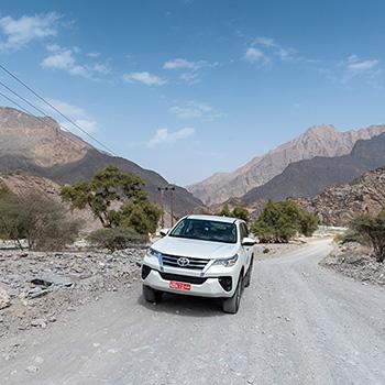 Fort Nakhal und die Berge im Oman