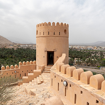 Tower des Fort Nakhal im Oman