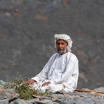 Arabischer Mann bei Balad Sayt