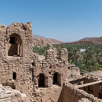 Birkat Al Mouz Ruins in der Nähe von Nizwa im Oman