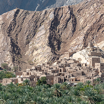 Birkat al Mouz Ruins im Oman