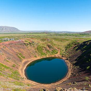 Kerid Vulkan vom Kraterrand