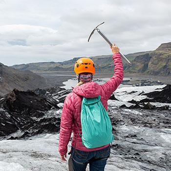 Wanderung am Solheimajökull Gletscher