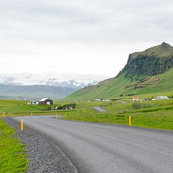 Landstraße in Island