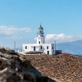 Armenistis Lighthouse auf Mykonos