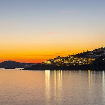 Sonnenuntergang Platis Gialos Mykonos