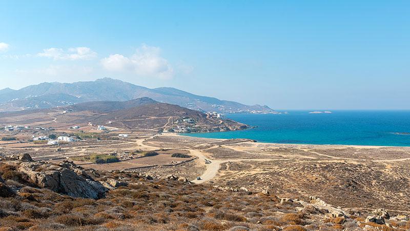 Ftelia Beach auf Mykonos