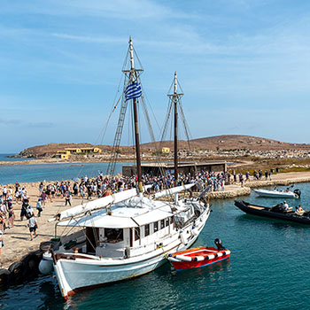 Der Hafen von Delos