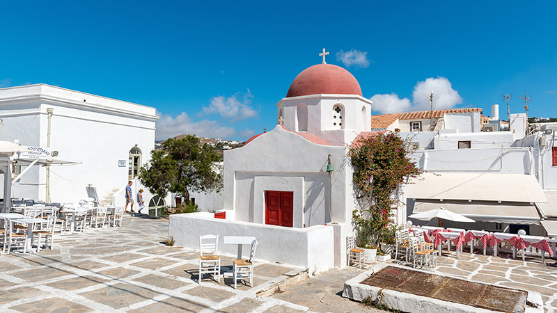 St Nicolas Kirche Mykonos Stadt