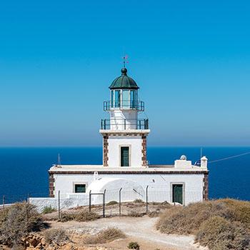Akrotiri Leuchtturm auf Santorin