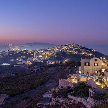 Sonnenuntergang über Santorin