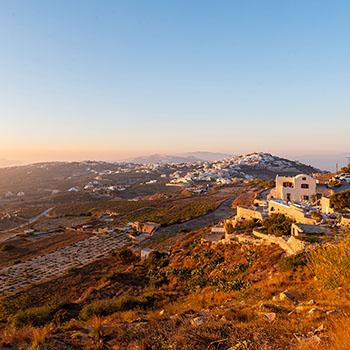 Abendsonne über Santorin
