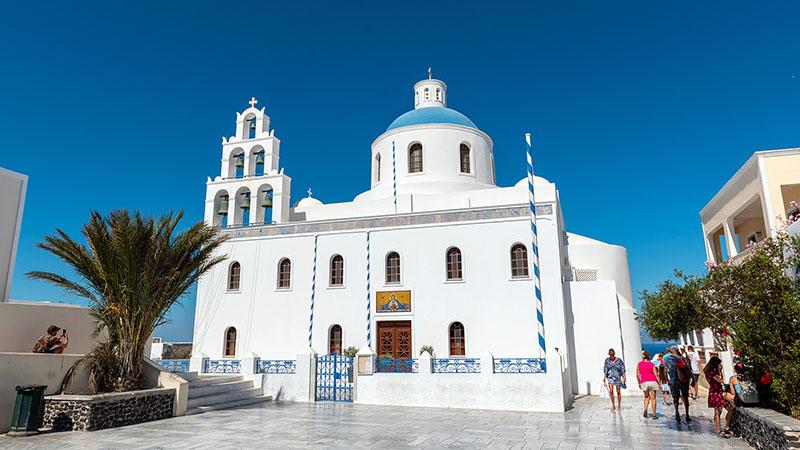 Panagia Platsani in Oia auf Santorin