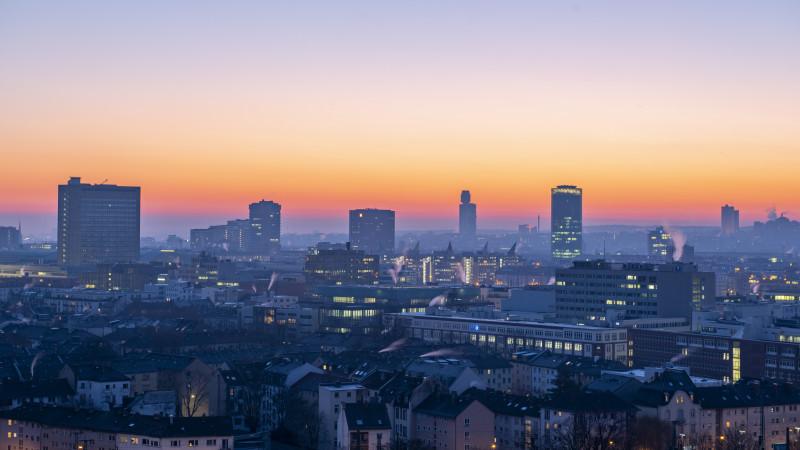 Frankfurt bei Sonnenaufgang