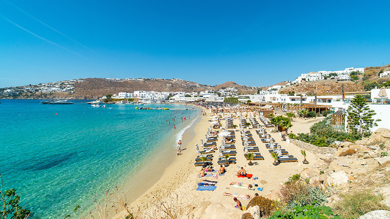 Beachclubs von Mykonos