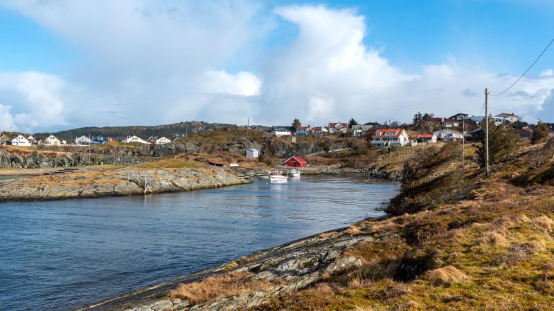 Schöne Bucht Kvalsvik in Haugesund