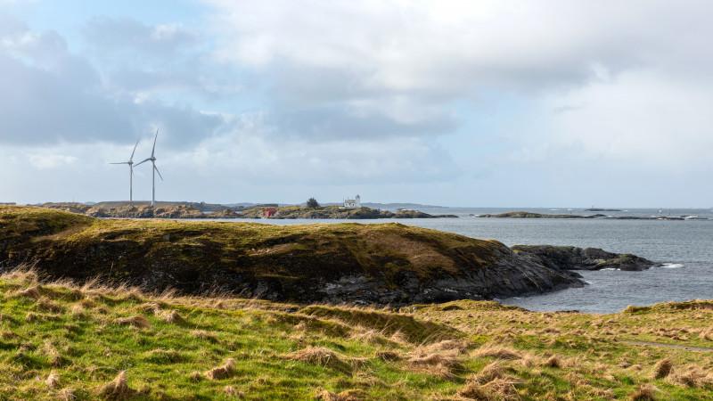 Landschaft mit Leuchtturm Haugesund