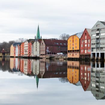 Historische Handelshäuser in Trondheim