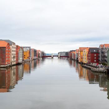 Altes Handelsviertel in Trondheim