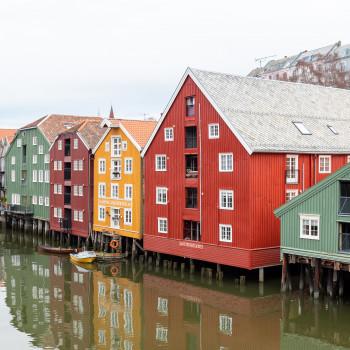 Skyline der Altstadt von Trondheim