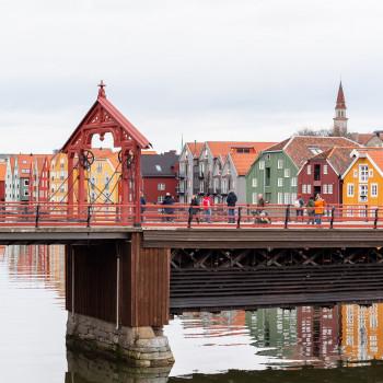 Altstadtbrücke Gamle Bybro in Trondheim