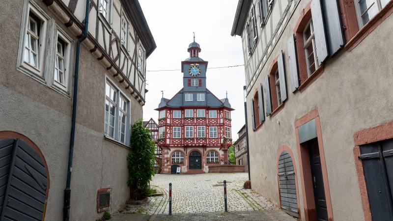Rathaus am Großen Marktplatz in Heppenheim
