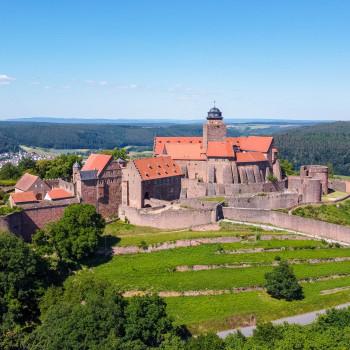 Südansicht der Burg Breuberg im Odenwald